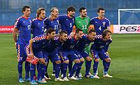 Fotball<br /> EM-kvalifisering<br /> 28.03.2015<br /> Kroatia v Norge<br /> Foto: Gepa/Digitalsport<br /> NORWAY ONLY<br /> <br /> UEFA European Championship 2016, European Qualifiers, international match, Croatia vs Norway. Image shows back row: Mario Mandzukic, Ivan Rakitic, Domagoj Vida, Vedran Corluka, Daniel Subasic, Ivan Perisic; front row: Dario Srna, Daniel Pranjic, Marcelo Borzovic, Ivica Olic and Luka Modric (CRO).<br /> Lagbilde Kroatia