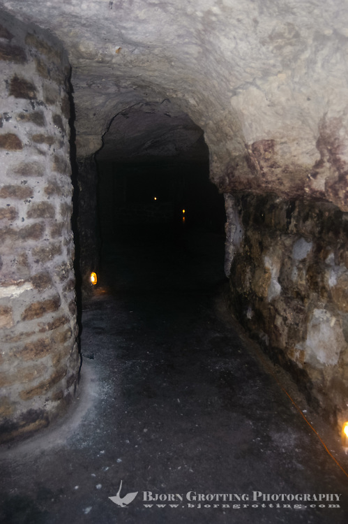 Budapest, Hungary.  The Labyrinth of the Buda Castle.