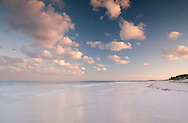 Clouds at sunset over Pink Sands Beach, Harbour Island, Eleuthera, The Bahamas