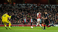 Football - 2018 / 2019 UEFA Europa League - Round of Sixteen, Second Leg: Arsenal (1) vs. Rennes (3)<br /> <br /> Pierre-Emerick Aubameyang (Arsenal FC) mis times his strike at The Emirates.<br /> <br /> COLORSPORT/DANIEL BEARHAM