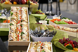 A variety of sweet and savory treats were served as Blu Homes opened their West Coast factory on Mare Island in Vallejo, California Dec. 1, 2011.  Over 400 guests attended a ribbon cutting ceremony at the 250,000-square-foot facility.
