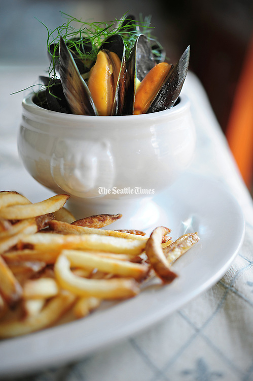 Moules frites (mussels and fries). <br /> John Lok / The Seattle TImes
