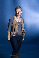 Bestselling English children's writer Cressida Cowell, pictured at the Edinburgh International Book Festival where she talked about her series entitled 'How to Train your Dragon.' The three-week event is the world's biggest literary festival and is held during the annual Edinburgh Festival. The 2010 event featured talks and presentations by more than 500 authors from around the world.
