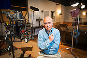 Writer Richard Allen, a professor in TCU's Film and Television Dept., on the soundstage at TCU on February 21, 2014.