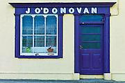 J'ODonovan shop front at Courtmacsherry, County Cork, Ireland