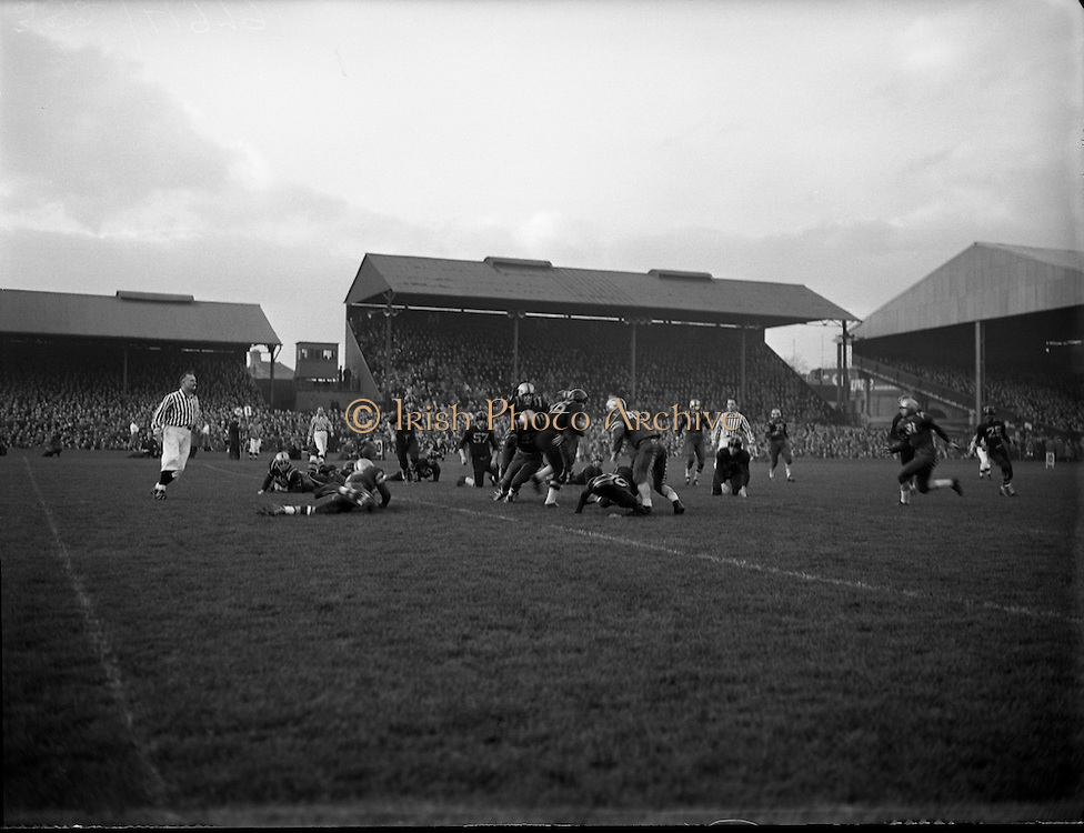 American Football at Croke Park - Burtonwood Bullets vs. Wethersfield Raiders.21/11/1953