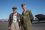 Living Historian with Stanton Rickey, veteran B-17 pilot.