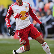 Salvatore Zizzo, New York Red Bulls, in action during the New York Red Bulls Vs D.C. United Major League Soccer regular season match at Red Bull Arena, Harrison, New Jersey. USA. 22nd March 2015. Photo Tim Clayton