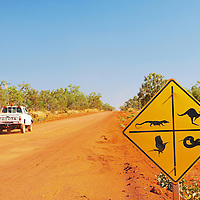 Mine 4WD travelling down a Kimberley dirt road