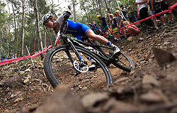 Scotland's Isla Short competes in the Women's Cross-country at the Nerang Mountain Bike Trails during day eight of the 2018 Commonwealth Games in the Gold Coast, Australia.