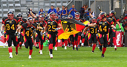 08.07.2011, Tivoli Stadion, Innsbruck, AUT, American Football WM 2011, Group A, Germany (GER) vs Mexico (MEX), im Bild Team Germany enters the Field // during the American Football World Championship 2011 Group A game, Germany vs Mexico, at Tivoli Stadion, Innsbruck, 2011-07-08, EXPA Pictures © 2011, PhotoCredit: EXPA/ T. Haumer