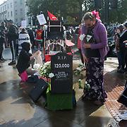 #AudioRiot to stop the cut to Universal Credit blockade King Cross, London, UK
