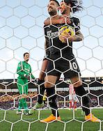 Danny Ings of Burnley celebrates scoring the second  goal of the game - Football - Barclays Premier League - Stoke City vs Burnley - Britannia Stadium Stoke - Season 2014/2015 - 22nd November 2015 - Photo Malcolm Couzens /Sportimage