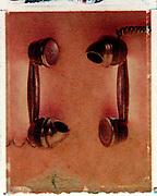 Old telephones - Polaroid transfer
