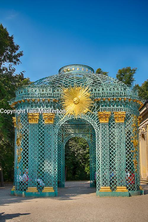 Pavilion at Sanssouci park in Potsdam outside Berlin Germany