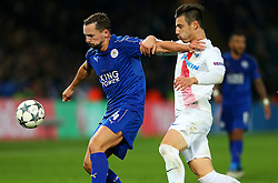 Daniel Drinkwater of Leicester City in action - Mandatory by-line: Matt McNulty/JMP - 22/11/2016 - FOOTBALL - King Power Stadium - Leicester, England - Leicester City v Club Brugge - UEFA Champions League