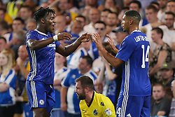 23 August 2016 - EFL Cup - Chelsea v Bristol Rovers<br /> Michy Batshuayi of Chelsea celebrates his goal with Ruben Loftus-Cheek of Chelsea<br /> Photo: Charlotte Wilson