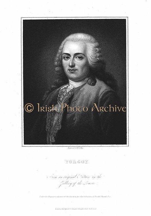 Anne Robert Jacques Turgot (1727-81) French politician and economist. Engraving