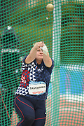 Alexandra Tavernier (FRA) competes and wins the Gold medal on Women's Hammer final during the Jeux Mediterraneens 2018, in Tarragona, Spain, Day 6, on June 27, 2018 - Photo Stephane Kempinaire / KMSP / ProSportsImages / DPPI