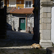 Tranquil street life at a small village nearby Soajo.