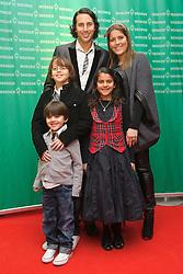 12.12.2010, Hudson, Bremen, GER, Weihnachtsfeier Werder Bremen, im Bild  Claudio Pizarro ( Werder #24 )  mit Gattin Karla und seinen drei Kindern  EXPA Pictures © 2010, PhotoCredit: EXPA/ nph/  Kokenge       ****** out ouf GER ******