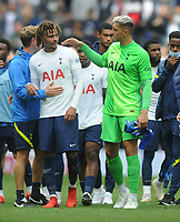Football - 2021 / 2022 Pre-Season Friendly - Tottenham Hotspur vs Arsenal - Tottenham Hotspur Stadium - Sunday 8th August 2021<br /> <br /> New Tottenham signing, Pierluigi Gollini with  Dele Ali after the match<br /> <br /> Credit : COLORSPORT/Andrew Cowie