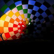 Philip Mundt, Denmark, and his crew prepare their Hot Air balloon for flight around rural Michigan near Battle Creek during the World Hot Air Ballooning Championships. Battle Creek, Michigan, USA. 20th August 2012. Photo Tim Clayton