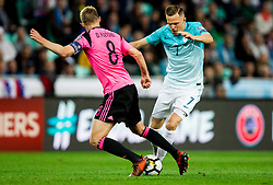 Josip Ilicic of Slovenia during football match between National Teams of Slovenia and Scotland of Fifa 2018 World Cup European qualifiers, on October 8, 2017 in SRC Stozice, Ljubljana, Slovenia. Photo by Vid Ponikvar / Sportida