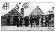 General Hooker and Staff at Lookout Mountain. from the book ' The Civil war through the camera ' hundreds of vivid photographs actually taken in Civil war times, sixteen reproductions in color of famous war paintings. The new text history by Henry W. Elson. A. complete illustrated history of the Civil war