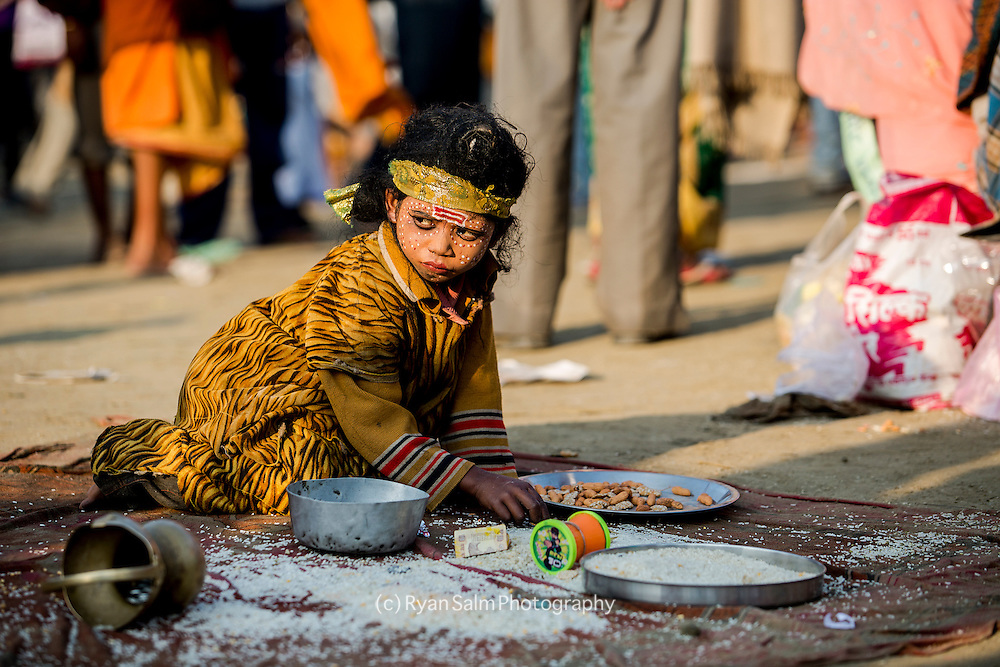 Among the masses that attend the Kumbh Mela are countless homeless and sick that receive handout by pilgrims passing through. Kumbh mela