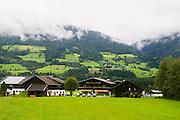 Farmhouse photographed in Untersulzbach Valley the Hohe Tauern National Park, Salzburg, Austria