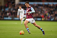 Jack Grealish of Aston Villa in action. Barclays Premier league match, Aston Villa v Swansea city at Villa Park in Birmingham, the Midlands on Saturday 24th October 2015.<br /> pic by  Andrew Orchard, Andrew Orchard sports photography.