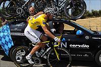 Sykkel<br /> Tour de France 2011<br /> Foto: PhotoNews/Digitalsport<br /> NORWAY ONLY<br /> <br /> 04.07.2011<br /> <br /> 3rd stage / Olonne-sur-mer - Redon<br /> <br /> HUSHOVD Thor (TEAM GARMIN - CERVELO - NOR) - Jonathan Vaughters