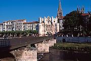 SPAIN, CASTILE, BURGOS Arco de Santa Maria, city wall gate