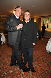 Left to right, actor & singer JESS CONRAD and fashion designer ERIC WAY at a tribute lunch for Elaine Paige hosted by the Lady Taverners at The Dorchester, Park Lane, London on 13th November 2007.<br />