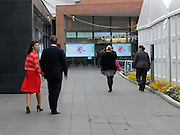 © Licensed to London News Pictures. 05/10/2011. MANCHESTER. UK. British Prime Minister David cameron arrives with his wife Samantha to deliver his end of conference speech at The Conservative Party Conference at Manchester Central today, October 5, 2011. Photo credit:  Stephen Simpson/LNP
