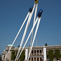 The Porsche 911 is the main central feature at the Goodwood Festival of Speed in 2013