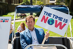 London, UK. 26 June, 2019. Ed Vaizey, Conservative MP for Didcot and Wantage, meets climate change activists from his constituency during a mass lobby of Parliament for the climate and environment.