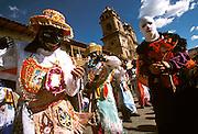 PERU, CUZCO, FESTIVALS Corpus Christi; dancing 'Pablucha'
