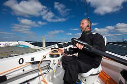Damian Foxall (IRL). Oman Sail's MOD70 Musandam during Kiel week 2014, 22-06-2014, Kiel - Germany.