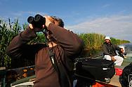 Birdwatcher Cristian Mititelu, wildlife watching tourism, Danube delta rewilding area, Romania