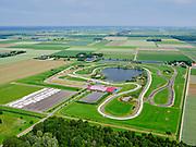 Nederland, Flevoland, Biddinghuizen, 21–06-2020; Flevonice, de langste openlucht kunstijsbaan ter wereld.<br /> Flevo on ice, the longest outdoor artificial ice rink in the world.<br /> <br /> luchtfoto (toeslag op standaard tarieven);<br /> aerial photo (additional fee required)<br /> copyright © 2020 foto/photo Siebe Swart