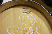 barrel with stamp francois freres delas freres tournon-s-r rhone france