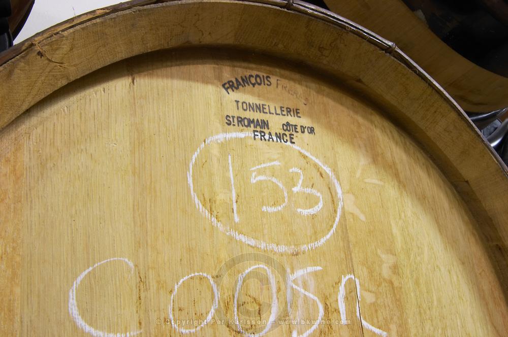 barrel with stamp francois freres delas freres tournon-s-r rhone france