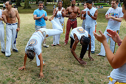 Capoeira in Russell Gardens, London
