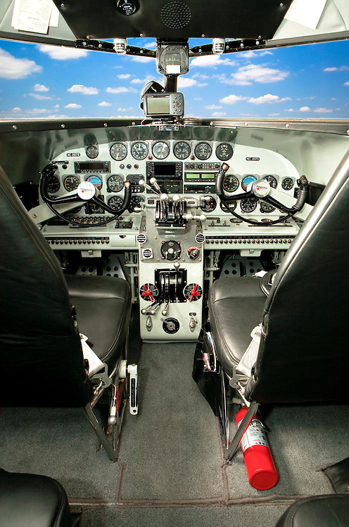"The panel of a restored Lockheed 12A Electra Junior.  It was used in the movie ""Amelia"", premiered in the fall of 2009."