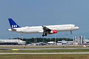 SAS Scandinavian Airlines Airbus A321-200 (OY-KBK) at Milan - Malpensa (MXP / LIMC) Italy