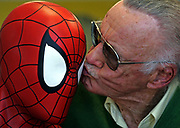 Stan Lee, the creatior of Spider-Man, chairman and chief creative officer of POW Entertainmant Inc.