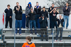 Fans of Gorica during football match between ND Gorica and NK Triglav in 16th Round of PrvaLiga NZS 2012/13 on November 3, 2012 in Nova Gorica, Slovenia. (Photo By Vid Ponikvar / Sportida)