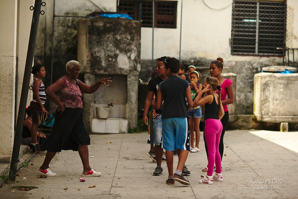 Boys and girls having their dance lessons